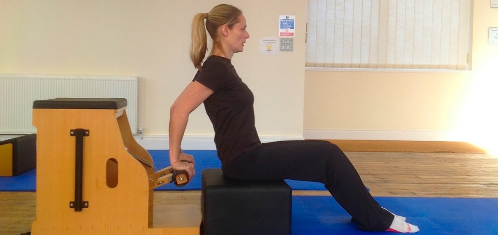 Nina doing pilates in poole